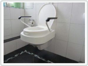 Demenz Hilfsmittel Toilettensitz mit Armlehnen